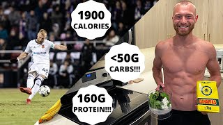 A LOW CARB HIGH PROTEIN FULL DAY OF EATING FOR A PRO FOOTBALLER | 1900 CALORIES + 160G PROTEIN!!!
