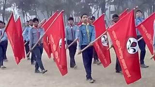 Parade by Bangladesh Scout (11th National Rover Moot)