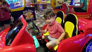 Aiden at JOHNS INCREDIBLE PIZZA!  ARCADES GAMES BOWLING and GOLF!