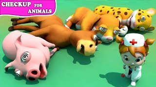 Episode Chubby and BuBu Checkup Doctor For Animals Cartoon for Children | Learn Farm Animals