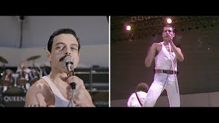 "Bohemian Rhapsody - Live Aid Side by Side: ""We Will Rock You"""