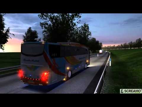 UK Truck Simulator Indonesia - Preview !! New Bus Sound Mod 2014