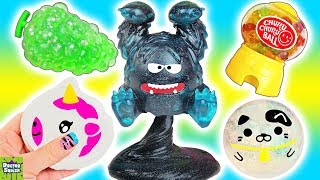 Squishy Cutting Week Day 3! Big Glitter Monster Slime Squishy! Doctor Squish