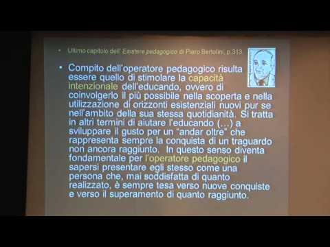 Convegno educazione professionale intervento prof  Marco Dallari Unitn