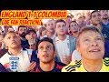 England Fans in America GO INSANE After Penalty Win vs Colombia! LIVE REACTION! World Cup 2018