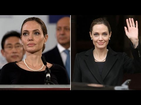 Angelina Jolie Speech Against Sexual Violence At G8 Meeting In London | Popsugar News video