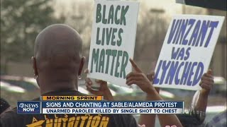 video A second day of protests is planned against the Aurora Police Department Thursday. A group of protesters gathered Wednesday around 5 p.m. at the northeast corner of Sable and Alameda to protest...