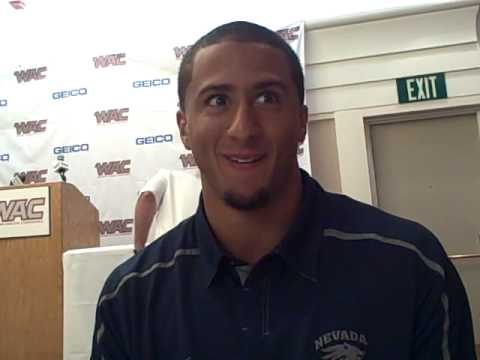 Colin Kaepernick at 2010 WAC media day