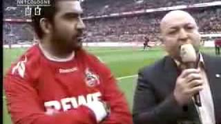 1 FC Köln Gladbach Ümit Özat beendet Karriere! live im Stadion!