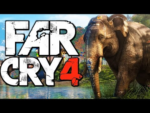 Far Cry 4 Funny Moments (Riding an Elephant. Hunting Rare Demon Fish)