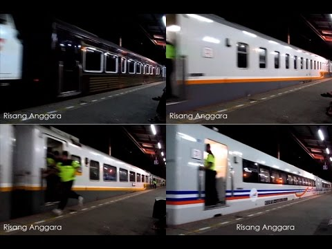 [kompilasi] Kedatangan Kereta Api Unggulan : ABA, Dwipangga, Gajayana, Sembrani, Bangunkarta
