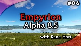 Empyrion Alpha 8.5 - Part 6 - Crashed MS Titan Front / Mid Parts! Drones & Spiders!