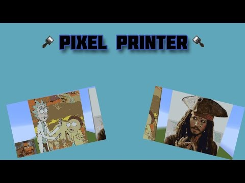 Bukkit Plugin Reviews: #15 Pixel Printer (Print out pictures in minecraft)