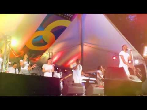 TYE TRIBBETT at One Awesome Day Gospelfest @Farley Hill Barbados 05/ 25/ 2014