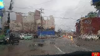 자동차 안에서 보는 비오는 날의 풍경 (Raining street) - S.korea 2018.03.18.