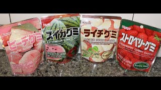 Kasugai Japanese Fruit Gummy Candy: Peach, Watermelon, Lychee & Strawberry Review