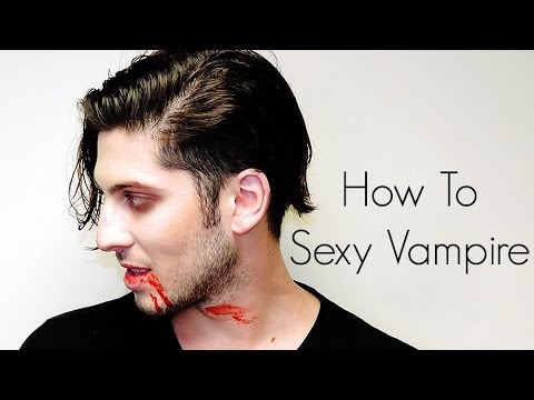 How To: Sexy Vampire Halloween makeup (men