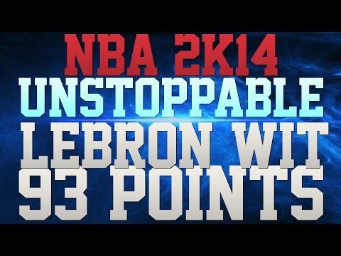 NBA 2K14 - LEBRON 93 POINTS!!! - LEBRON CRAMPS!!! - HEAT IN 6