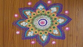 Simple and Quick Rangoli for Beginners | Rangoli for Diwali | Simple Rangoli by Priyanka Sharma