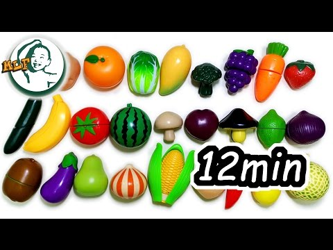 Learn fruits and vegetables for kids | collection videos