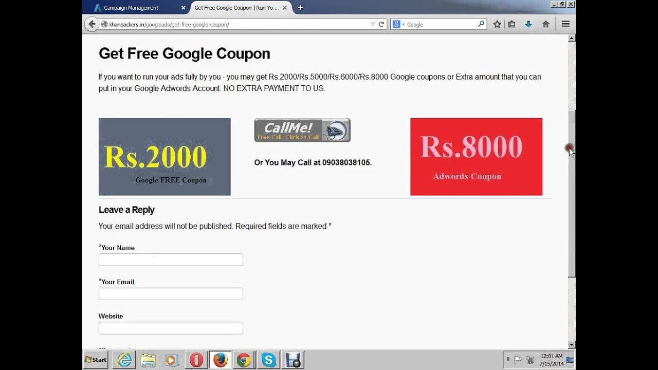 Cheap adwords coupons