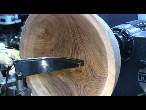 Turning a Large Walnut Bowl in HD - Woodturning - 40 Min How-to Video
