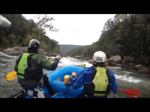 Upper Gauley Rafting Highlights, R3 GuideCam 9-21-2014