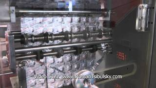 Automatic machine for group packaging of tablets in aluminium foil strip or laminated paper