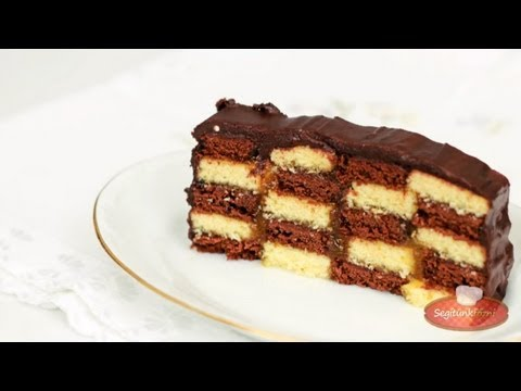 Sakktábla szelet videó recept (Checkerboard Cake)