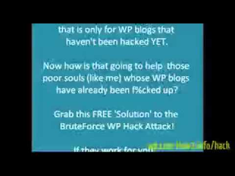 brute force attacks - WP Brute Force Hack Solutions FREE