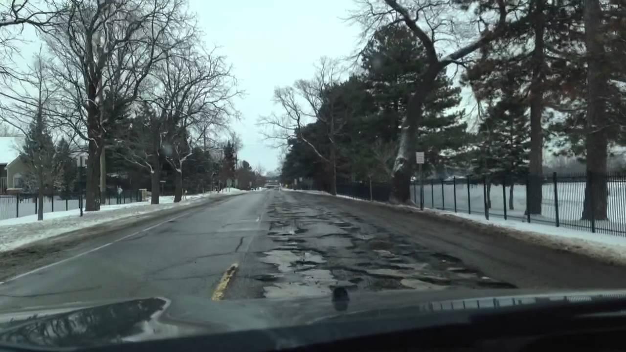 Michigan Pothole Pictures Michigan Potholes