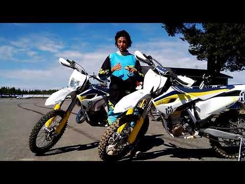 Angelo Barbiero di Motociclismo FUORIstrada alla presentazione delle Husqvarna enduro e cross 2015
