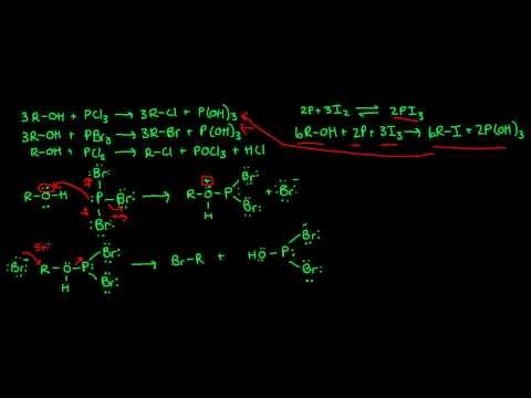 Alcohol Reactions With Phosphorus Halides