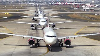 Morning traffic at Mumbai International Airport