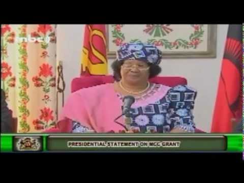 Malawi President Joyce Banda talks about Food-For-Work Program -- June 2012