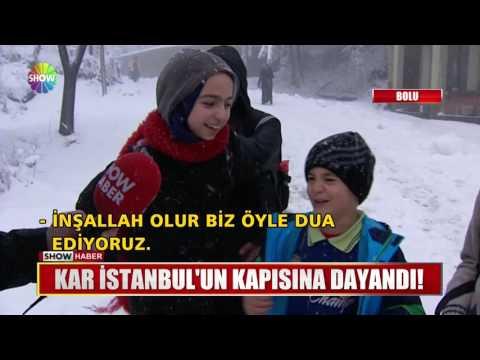 Kar İstanbulun kapısına dayandı