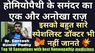 The sensation in homoeopathy.