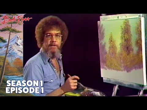 Bob Ross' official YT channel has just uploaded his very first painting episode