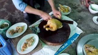 Cách chặt thịt gà đẹp   Hướng dẫn chặt gà luộc