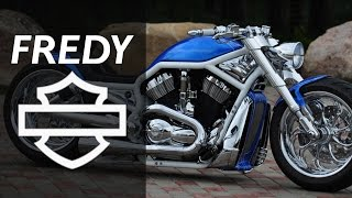 "Harley Davidson VRod ""Blue"" by FREDY 