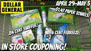 DOLLAR GENERAL IN STORE COUPONING! 4-29/5-5 | .84 CENT SWIFFER/FEBREEZE/DOWNY! HOT P&G WEEK!