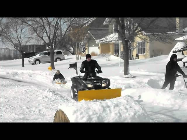 ATV Fun in the Chicago Blizzard 2011 (Tinley Park, IL)