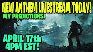 New ANTHEM Livestream on Twitch Today!! April 17th 4PM EST!