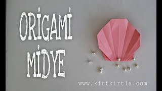 ORİGAMİ-MİDYE KABUĞU - DIY CRAFTS  FOR KIDS