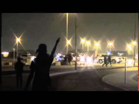 Bahrain - Aali | shot directly to a photographer from terrorism police 10\4\2014