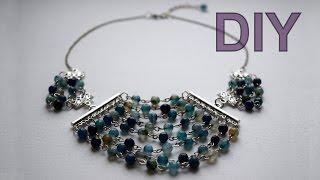 """Колье из бусин """"Волна"""" МАСТЕР-КЛАСС /DIY  """"Wave"""" necklace."""