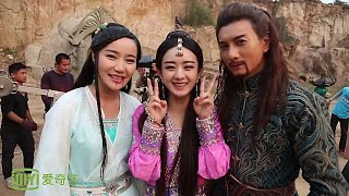 [BTS] Zhao Li Ying (赵丽颖) & Nicky Wu - Taking a Family Picture