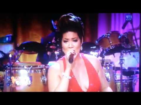 Tessanne Chin at the white house