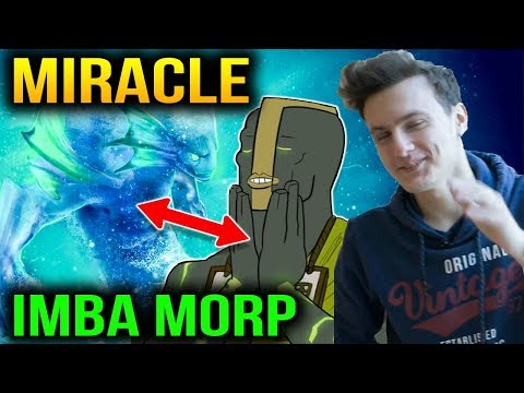 Miracle Morphling Become Crazy Earth Spirit  with his Party Dota 2 7.11
