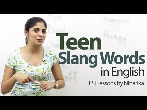 Teen Slang Words - Free English Lesson video